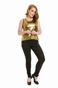 Regata Metalic dourada|Regata| Coleteria