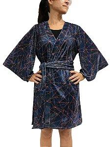 Kimono Veludo Geometric |Kimono| Coleteria
