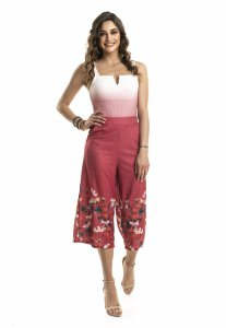 Calça Pantacourt Floral|calça|Coleteria