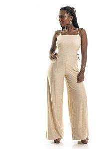 Macacão Pantalona Lurex Dourado|Macacão|Coleteria