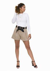 Blusa coleteria manga longa ribana off white