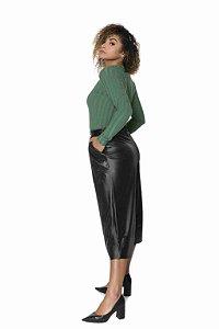 Blusa M/L Ribana Canelada Verde |Blusa|Coleteria