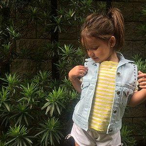 colete jeans com tachas | porto rico kids | coletânea mundo