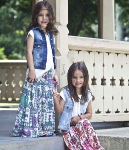 colete jeans infantil destroyed | lily&rose escuro | coleteria in the city