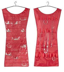 "Organizador de Bijoux Pendurável Dupla-Face Umbra ""LITTLE RED DRESS"""