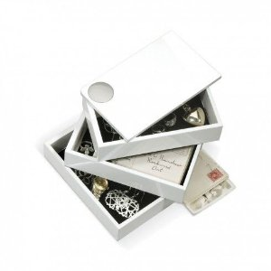 "Porta Joias Umbra ""SPINDLE BOX WHITE"""