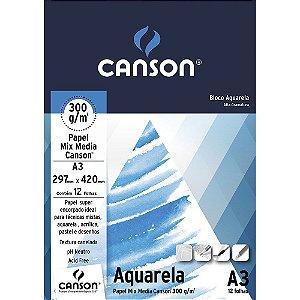 Bloco Canson Aquarela A3