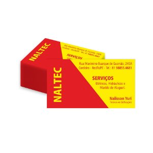 Cartão de Visita - 4x0 8,8 cm x 4,8 cm Brilho