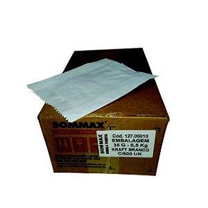 Embalagem de Papel Kraft Branco 30 gramas 0,5 Kg com 1000