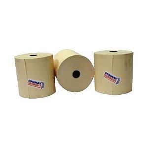 10 cxs - Bobina 79mm 1 Via Térmica Amarela c/80 metros caixa c/14 rolos