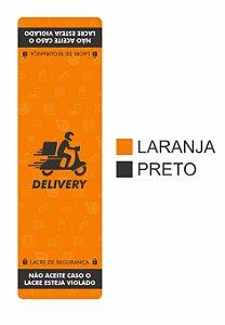 """Rótulo Tipo Lacre para Embalagem de Alimentos 100 X 30mm C/1000 """"LARANJA"""""""