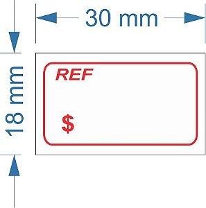 Etiqueta 18X30mm com 500 etiquetas (Ref / R$)