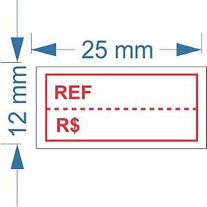 Etiqueta 25x12mm com 500 etiquetas (Ref / R$)