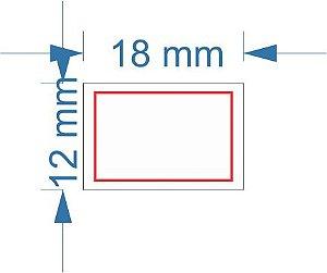 Etiqueta 18x12mm com 500 etiquetas (Borda Vermelha)