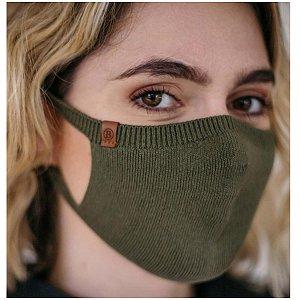 Máscara Proteção Camada Dupla 100% Algodão Biamar Verde