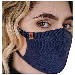 Máscara Proteção Camada Dupla 100% Algodão Biamar Azul