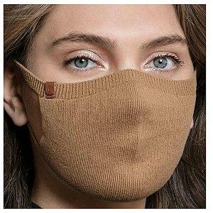 Máscara Proteção Camada Dupla 100% Algodão Biamar Camel