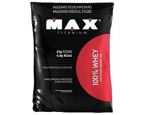 100% Whey Refil 2kg - Max Titanium Morango