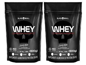 2x Whey Refil 900g - Black Skull Chocolate