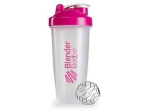 Coqueteleira Blender Bottle 600ml - Cor Transparente Rosa