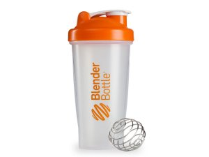 Coqueteleira Blender Bottle 600ml - Cor Transparente Laranja