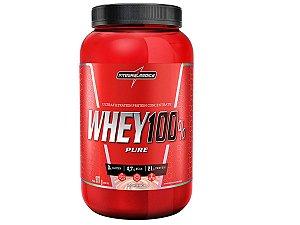 Whey 100% Pure 907g - Integral Médica Morango