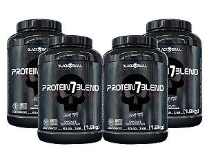 4x Protein 7 Blend 1,8kg - Black Skull Morango