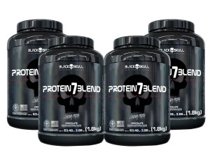 4x Protein 7 Blend 1,8kg - Black Skull Caramelo