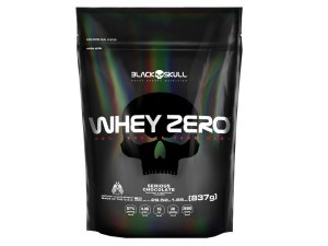 Whey Zero Refil 837g Baunilha - Black Skull