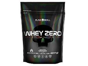 Whey Zero Refil 837g Morango - Black Skull