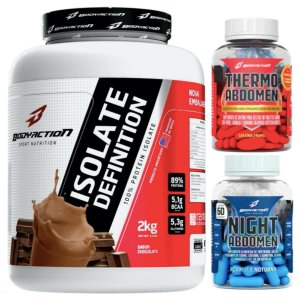 Isolate Definition 2kg Chocolate + Night Abdomen 60 cáps + Thermo Abdomen 60 tabs