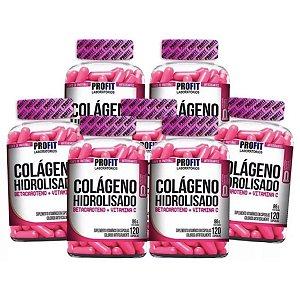 7X Colágeno Hidrolisado C/ Betacaroteno + Vit C 120 caps - Profit