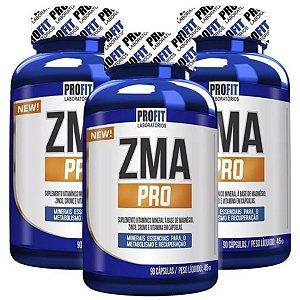 3X Zma Pro Com Picolinato De Cromo 90 Cápsulas - Profit Labs