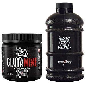 Glutamina 350g Darkness Integral Medica + Galão 2,2L Darkness