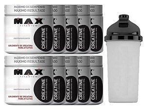 10X Creatina 300g Max Titanium + Coqueteleira