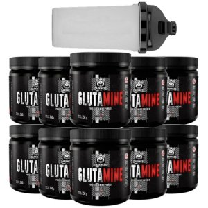 10X Glutamina 350g Darkness Integral Medica + Coqueteleira