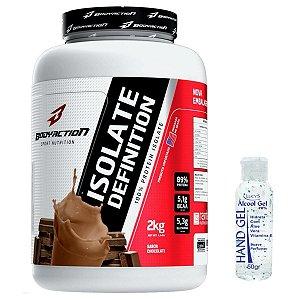 Isolate Definition 2kg  - Bodyaction Sabor: Chocolate + Alcool Gel 70% 50g