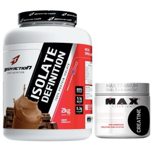 Isolate Definition 2kg Chocolate Body + Creatina 300g Max