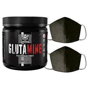 Glutamina 350g Darkness Integral + 2X Máscara Lavável Feminina Algodão Duplo