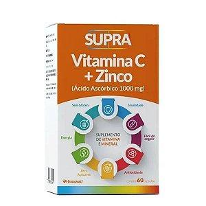 Supra Vitamina C + Zinco Melhora Imunidade 60capsulas - Herbamed