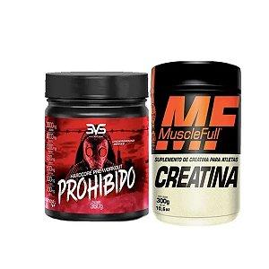 Prohibido 3vs 360gr Pré Treino Sabor Citrus + Creatina 300g Muscle Full