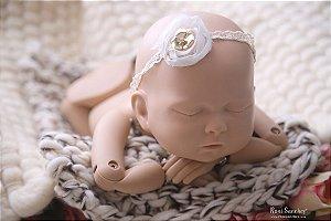 Mantinha lã mescla newborn