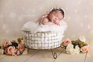 Cesto Redondo Fotos Newborn Props, Decoração ArteBrasil