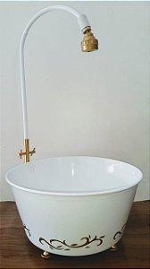 Banheira Pés Dourados Acessórios Fotografia Newborn, Decoração Festas