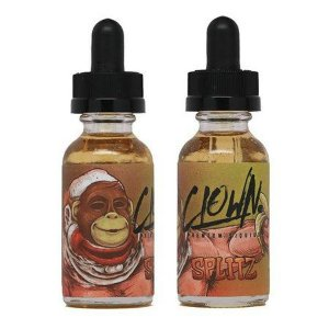 LIQUIDO CLOWN SPLITZ (BANANA, CREME E SORVETE) ​30ml - ZERO NICOTINA