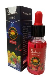 E-BUZZ E-LIQUID MORANGO + MIRTILO 20ML ZERO NICOTINA - SAHARA