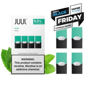 REFIL JUUL (PACK OF 4) MINT - PROMOÇÃO BLACK FRIDAY