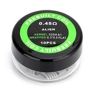 PACK COM 10 COIL'S  ALIEN 0.45 Ω - PREBUILT COIL