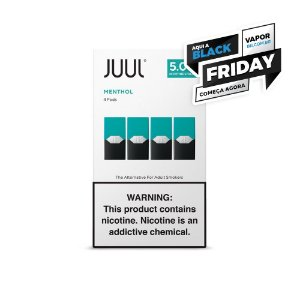 REFIL JUUL (PACK OF 4) MENTHOL - BLACK FRIDAY ANTECIPADA APROVEITE