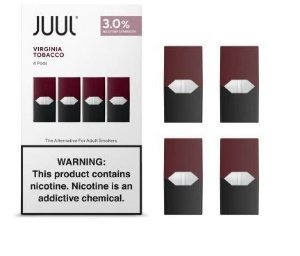 REFIL JUUL (PACK OF 4) VIRGINIA TOBACCO 3% NICOTINA